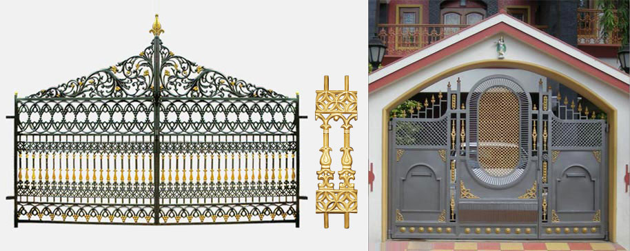 Gate designs compound gate designs india for Compound wall design photos